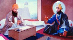 Bhai Mani Singh Ji with Guru Gobind Singh ji